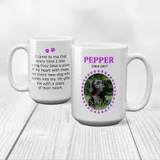 pet memorial mug 15 oz pet memorial purple paw print frame kelegant pet memorials