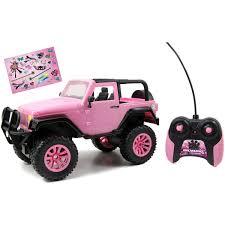 toy jeep wrangler 4 door jada toys girlmazing 1 16 scale remote control pink jeep walmart com