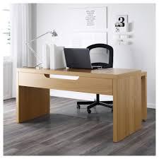 Oak Desk Type Malm Desk With Pull Out Panel Oak Veneer 151x65 Cm Ikea