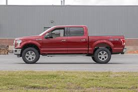 lifted black ford f150 2in leveling lift kit w n2 0 shocks for 2015 2018 ford f 150