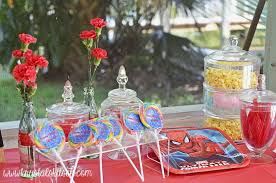 Birthday Candy Buffet Ideas by Spiderman Birthday Party Candy Buffet