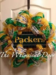 green bay packers wreath green bay packers decor by wandndesigns