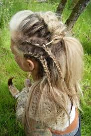 hair styles for viking ladyd viking braided hairstyle beautiful 3 braids pinterest