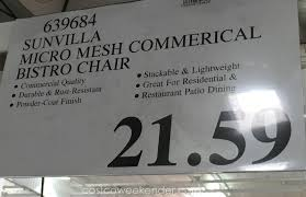 Sunvilla Bistro Chair Costco Rocker Gaming Chair Best Home Chair Decoration