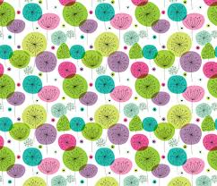 Cute Flower Wallpapers - cute colorful retro style poppy flowers cute floral illustration
