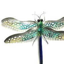 Dragonfly Garden Art 34 Dragonfly Wall Art Outdoor Silver Wire Dragonfly Indoor