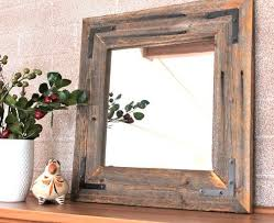 Wood Mirrors Bathroom Ready To Ship Rustic Modern Mirror Reclaimed Wood Mirror