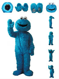Sesame Street Halloween Costumes Adults Wholesale Sesame Street Cookie Monster Mascot Costume