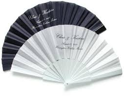 personalized folding fans for weddings custom printed fans with your names and wedding date myhandfan com