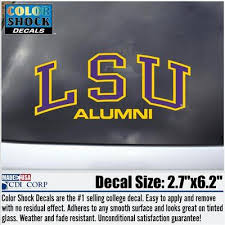 lsu alumni sticker barnes noble at lsu bookstore lsu tigers colorshock alumni decal