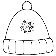 winter hat coloring