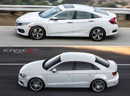 audi a4 comparison 2016 honda civic vs 2016 audi a3 comparison 2016 honda civic