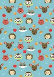 autumn animals scrapbook paper free to crafty stuff