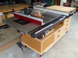 how to build a table saw workstation table saw router table extension plans table saw router table