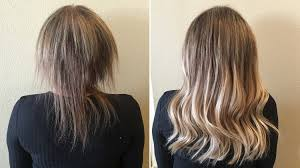 Color Extensions For Hair by The Shocking Hair Extensions Before And After You Have To See Allure