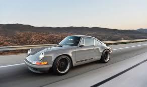 gray porsche 911 singer vehicle design restored reimagined reborn