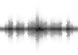 design elements matrix halftone sound wave black and white pattern stock vector