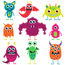 halloween cute clipart friendly monsters illustrations google search monster party