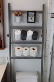 Bathroom Storage Toilet Diy Bathroom Storage Ladder The Toilet Peu Luxe