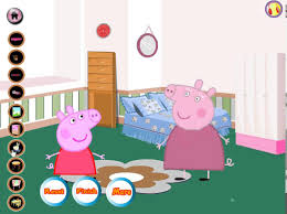 peppa pig room decor game play youtube