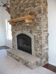 fireplace veneered house ideas brick wall rustic stone fireplace