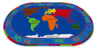 Antarctica World Map by Kid Carpet All Around The World Map Kids Rug U0026 Reviews Wayfair