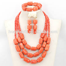 coral beads necklace images Nigerian coral beads jewelry set african chunky statement necklace jpg