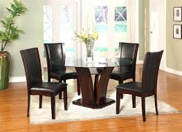 dark espresso dining room set modern table furniture round colored