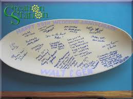 guest signing plate create a signature platter your creation station
