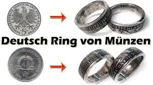 german wedding ring ring münzen german coin rings for special order