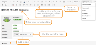 creating a template atlassian documentation