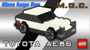 lego toyota toyota ae 86 mini lego 70 moc instruction тойота ае86 лего