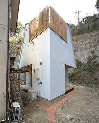 compact diamond shaped house plan by yuji tanabe