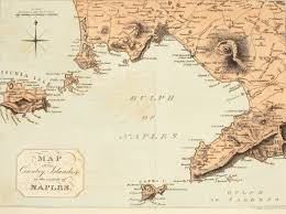 Capri Italy Map by Map Of The Gulf Of Salerno Of Capri Circa 1802 As Published In 1815