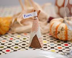 diy thanksgiving teepee place holders