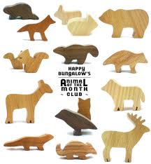 woodland animal toy of the month club happy bungalow