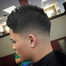 razor cut hairstyle with spiky on top 60 sizzling tape up haircut ideas get your fade in 2018
