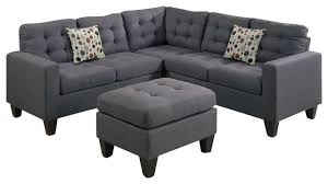 inpod 4 piece modular sectional sofa and ottoman view in your