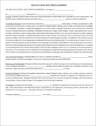 non disclosure agreement templates free pdf word document