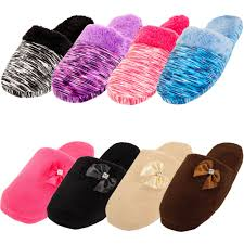 Bedroom Shoes For Womens Womens Cozy Plush Slippers House Shoes Fuzzy Slip On Soft Warm