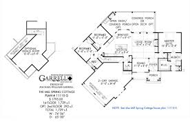 split floor plan house plans mill spring cottage house plan house plans by garrell associates