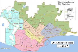 Santa Barbara Map 3 City Council Races Mayor U0027s Seat Up For Santa Barbara U0027s Second