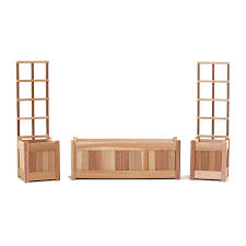 shop all things cedar x unfinished cedar planter with trellis