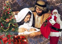 christian birth of jesus santa