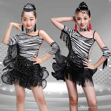 kids samba child black tassels sequined dress kids samba