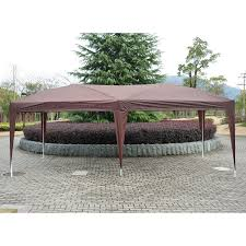amazon com outsunny easy pop up canopy party tent 10 feet x 20