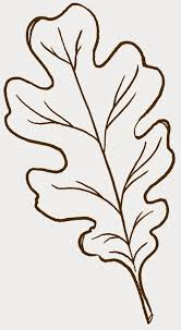 oak leaves coloring pages clip art library