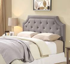 Tufted Bed Frame Queen Queen Grey Tufted Headboard With Mattress And Base