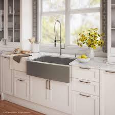 kraus farmhouse sink 33 kraus 33 farmhouse sink with nola commercial faucet soap dispenser