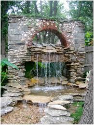 backyards fascinating beautiful homemade backyard waterfalls 2